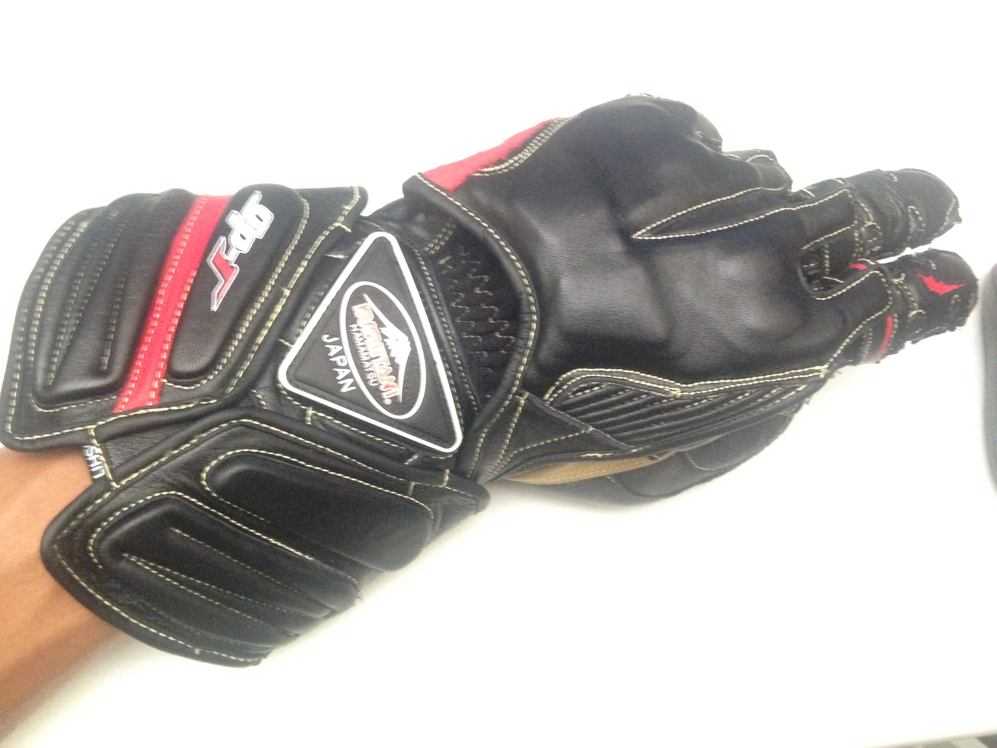 Japanese leather motorcycle gloves - Gloves Top
