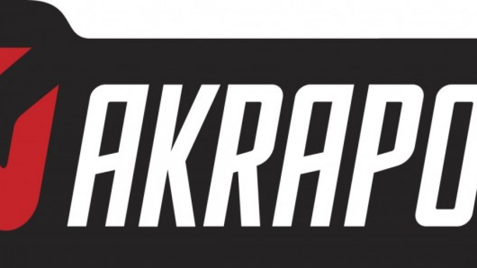 Akrapovic logo 2007 aflangt sort-roed-hvid