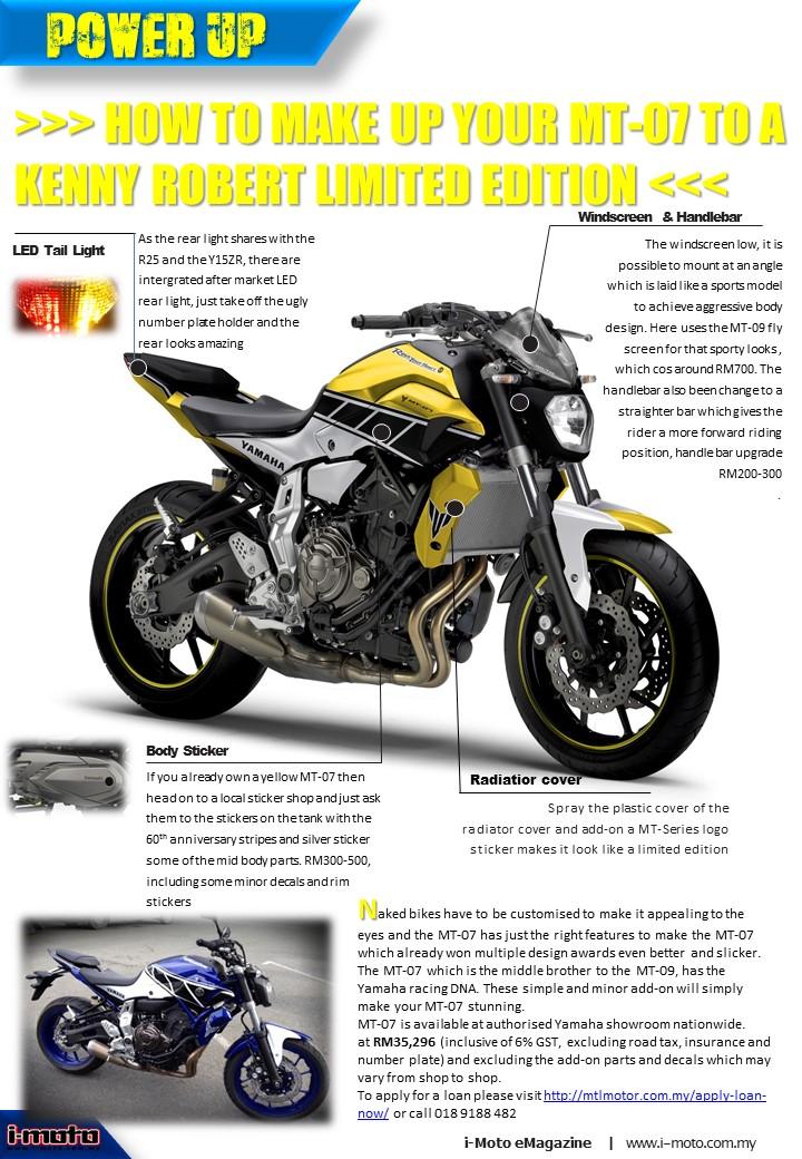 I Moto 2016 Yamaha Mt 07 Limited Edition