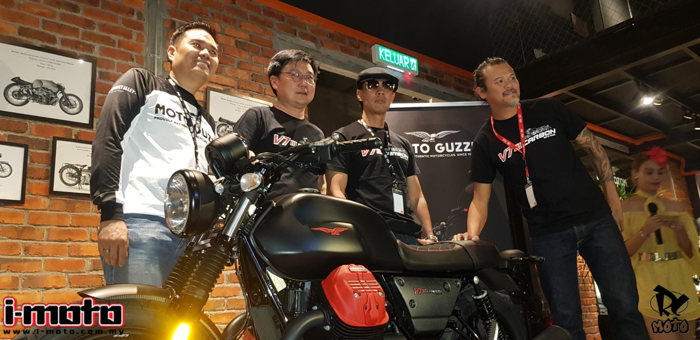 MOTO GUZZI V7 CARBON DARK LIMITED EDITION UNVEILED ONLY 6/1921 UNIT WILL BE AVAILABLE @ RM74,900