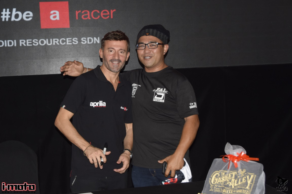MEET AND GREET APRILIA RIDERS MAX BIAGGI, ALEIX ESPARGARO AND SCOTT REDDING