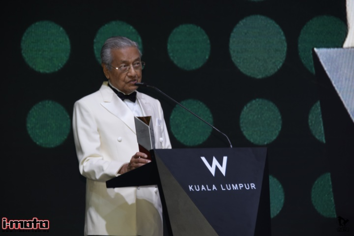 PRIME MINISTER, YAB TUN DR. MAHATHIR MOHAMAD CONFERRED WITH LIFETIME ACHIEVEMENT AWARD AT PETRONAS SIC MOTORSPORTS ASSOCIATION OF MALAYSIA AWARDS 2018