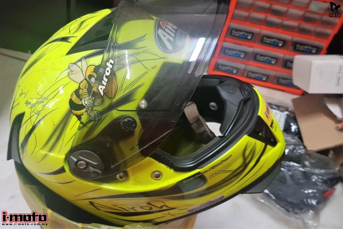 I-MOTO GEAR-UP: AIROH GP500 HELMET RESTORED!