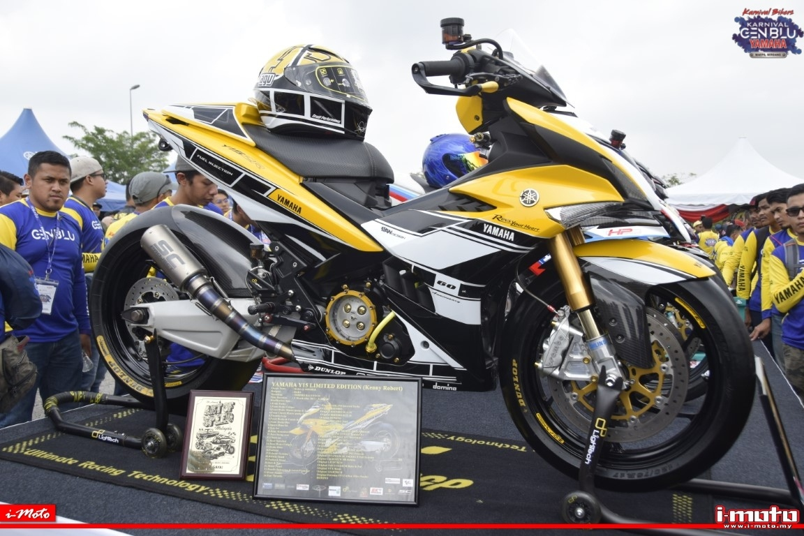 LIMITED EDITION DOXOU SPORTS FASHION LIVERY DEBUTS ON YAMAHA NVX AND Y15ZR AT YAMAHA GEN BLU CARNIVAL 2019
