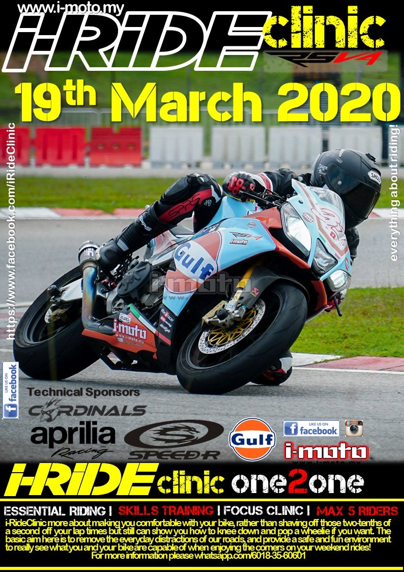 I-RIDECLINIC 19TH MARCH 2020 SEPANG GO KART TRACK